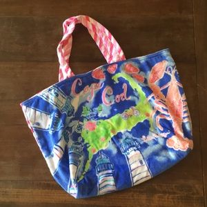 Lilly Pulitzer Cape Cod Terrycloth Beach Tote
